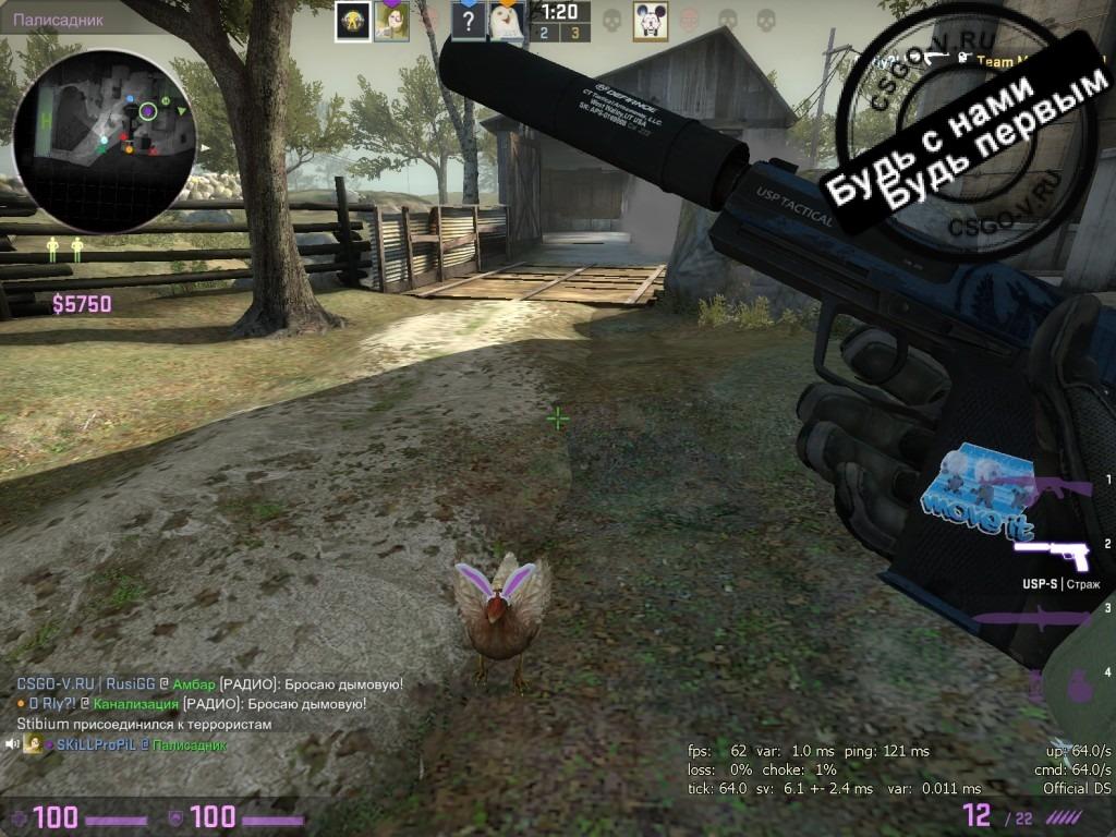 Кролики-зайчики в cs go