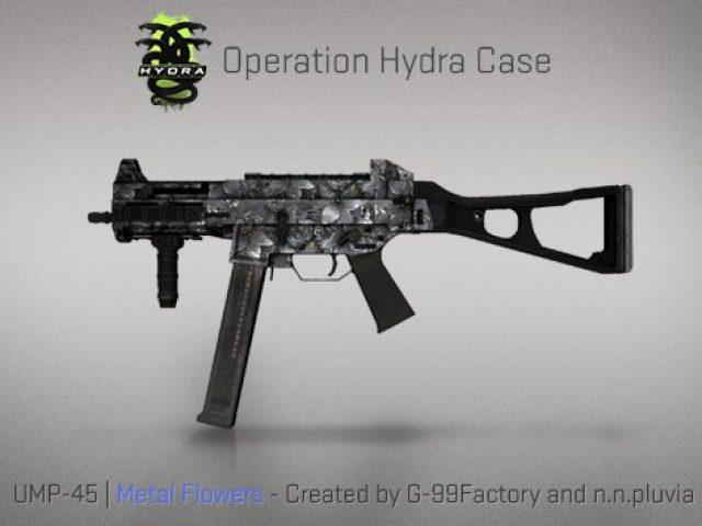 UMP-45 Metal Flowers